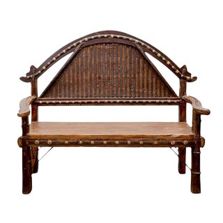 Indian Ox Cart Arched Bench