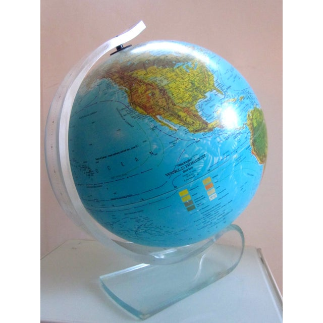 Vintage Globe with Thick Lucite Base - Image 2 of 9
