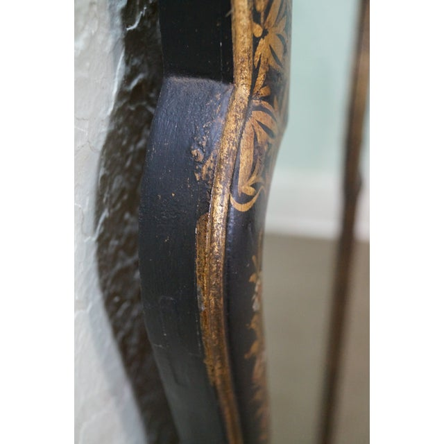 Image of LaBarge Vintage Black & Gold Chinoiserie Mirror