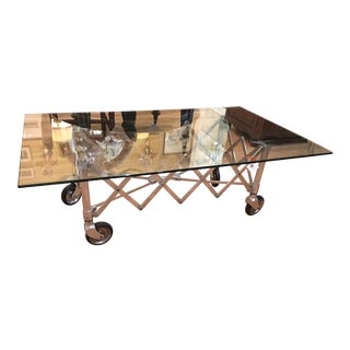 Modern Industrial Chic Aluminum Gurney Coffee Table