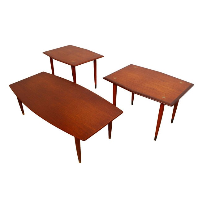 Swedish Teak Curved Coffee Table with Storage - Image 7 of 7