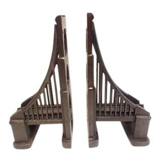 Restoration Hardware Metal Bridge Bookends - A Pair