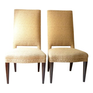 Donghia Beige Side Chairs - A Pair