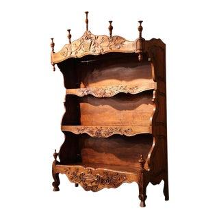 """19th Century French Louis XV Carved Walnut """"Estanier"""" Shelf"""