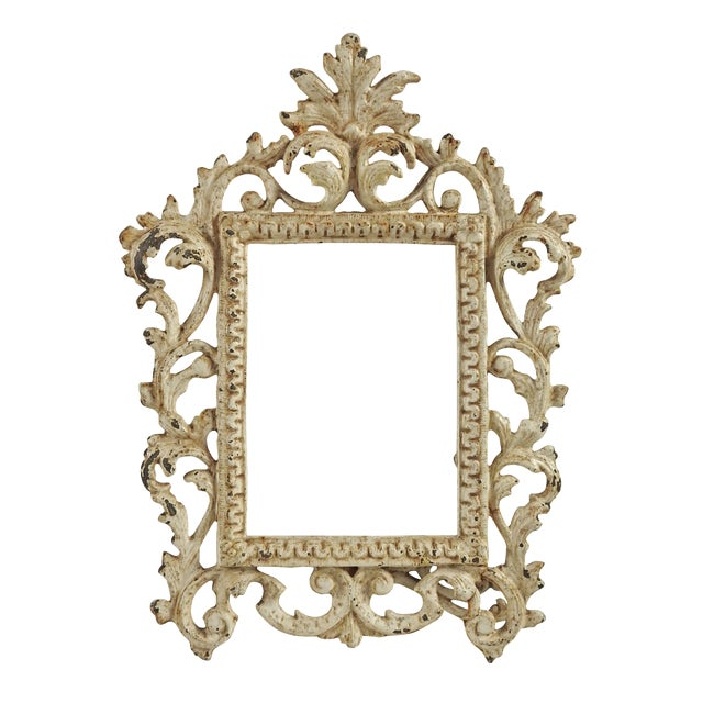 Image of Vintage Shabby Chic Iron Picture Frame