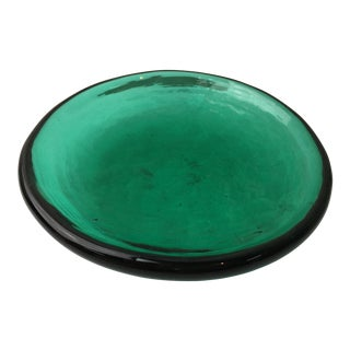 Emerald Green Handblown Catchall Dish