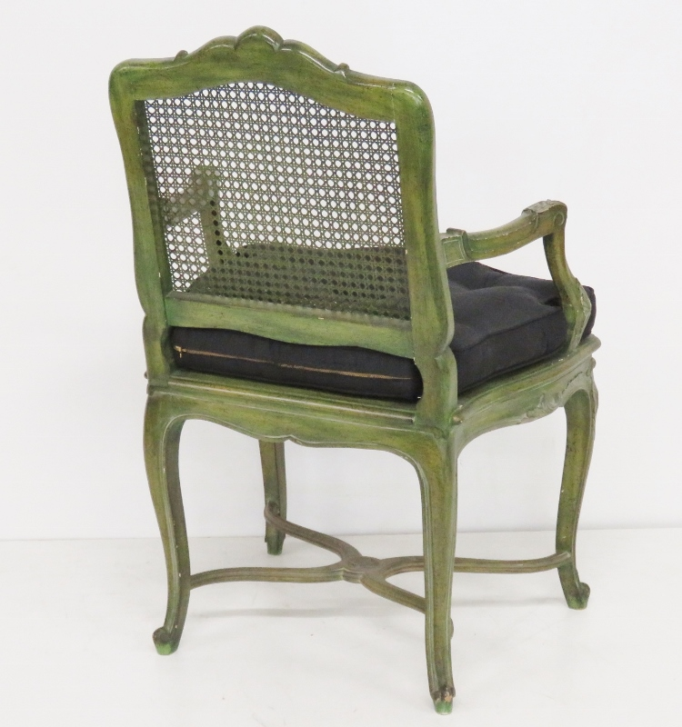 French Louis XVI Style Painted Armchairs - A Pair : Chairish