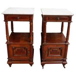 French Antique Henry II Nightstands - A Pair
