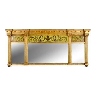 Regency Eglomise Panel Overmantle Mirror