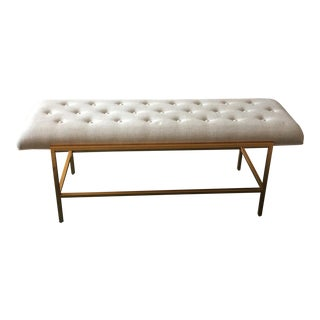 Gold Lacquered Frame Bench