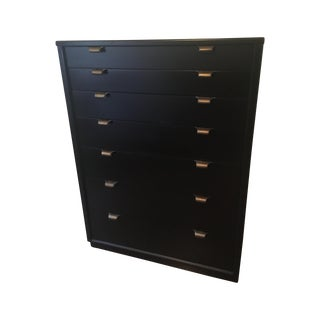 Edward Wormley Drexel Black Lacquer Dresser