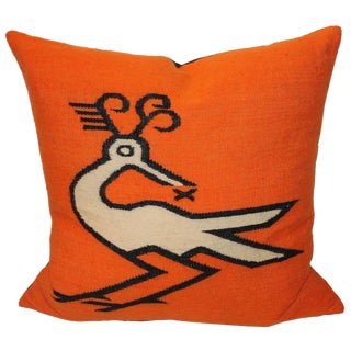 Wild Mexican Road Runner Weaving Pillow