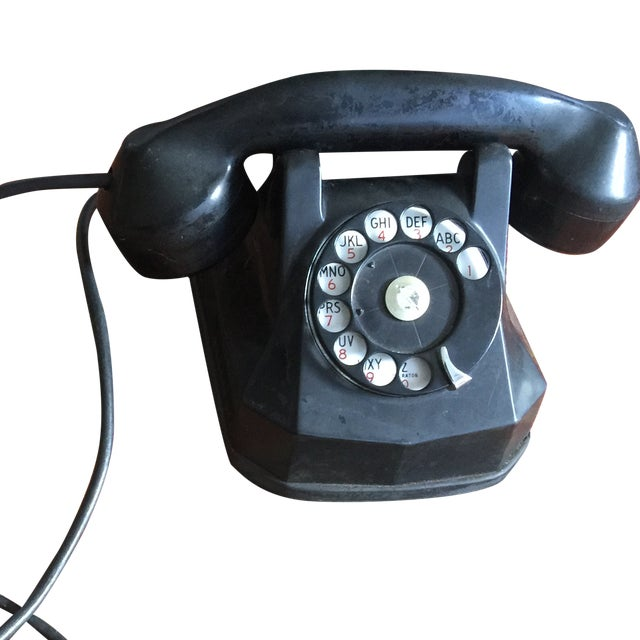 Image of Vintage Rotary Dial Telephone Works!