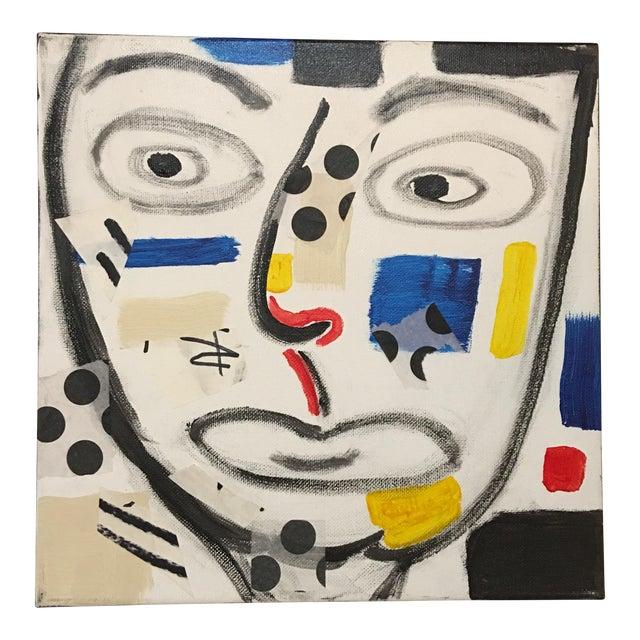 "Phyllis Rinaldi ""II Primary Man"" Original Painting on Canvas - Image 1 of 6"