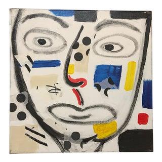 "Phyllis Rinaldi ""II Primary Man"" Original Painting on Canvas"