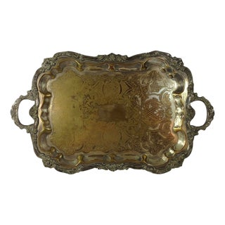 Antique Silver Plated Large Tea Tray