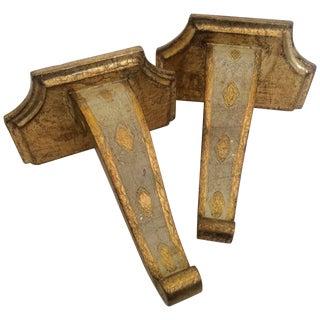 Florentine Gilded Wood Sconces - A Pair