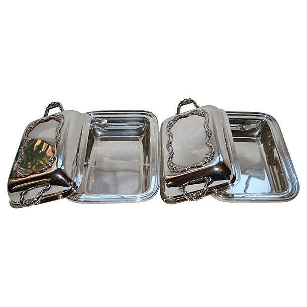 Rochelle Silver Covered Serving Dishes - A Pair - Image 2 of 5