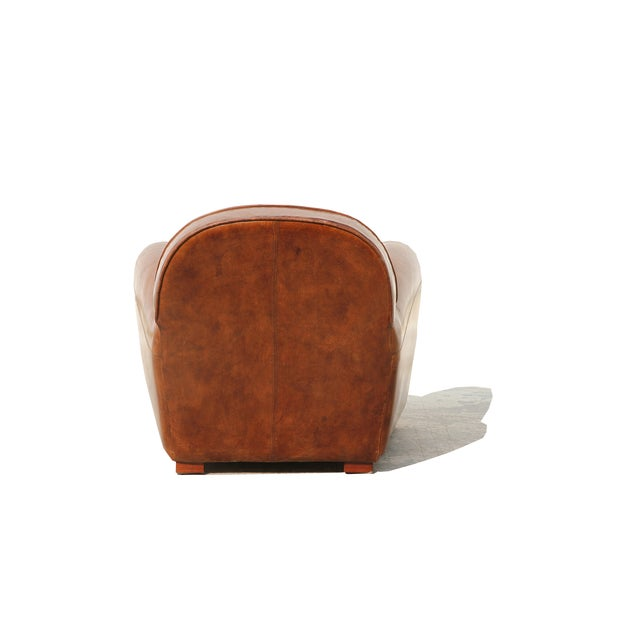 Pasargad Genuine Leather Paris Club Chair - Image 5 of 5