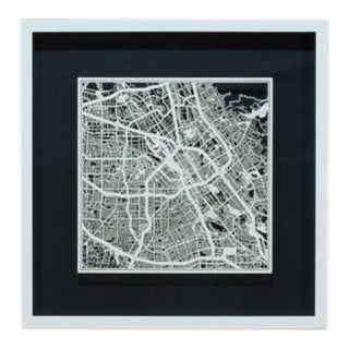 Sarreid Ltd. San Jose Framed & Matted Map