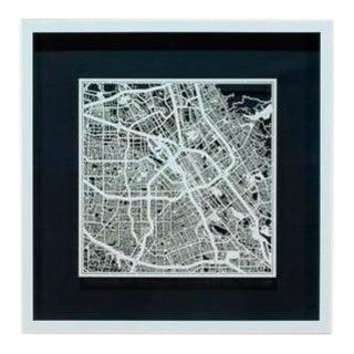 Sarreid Ltd. San Jose Framed & Matted Map