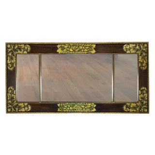 Classical Painted & Stenciled Overmantel Mirror