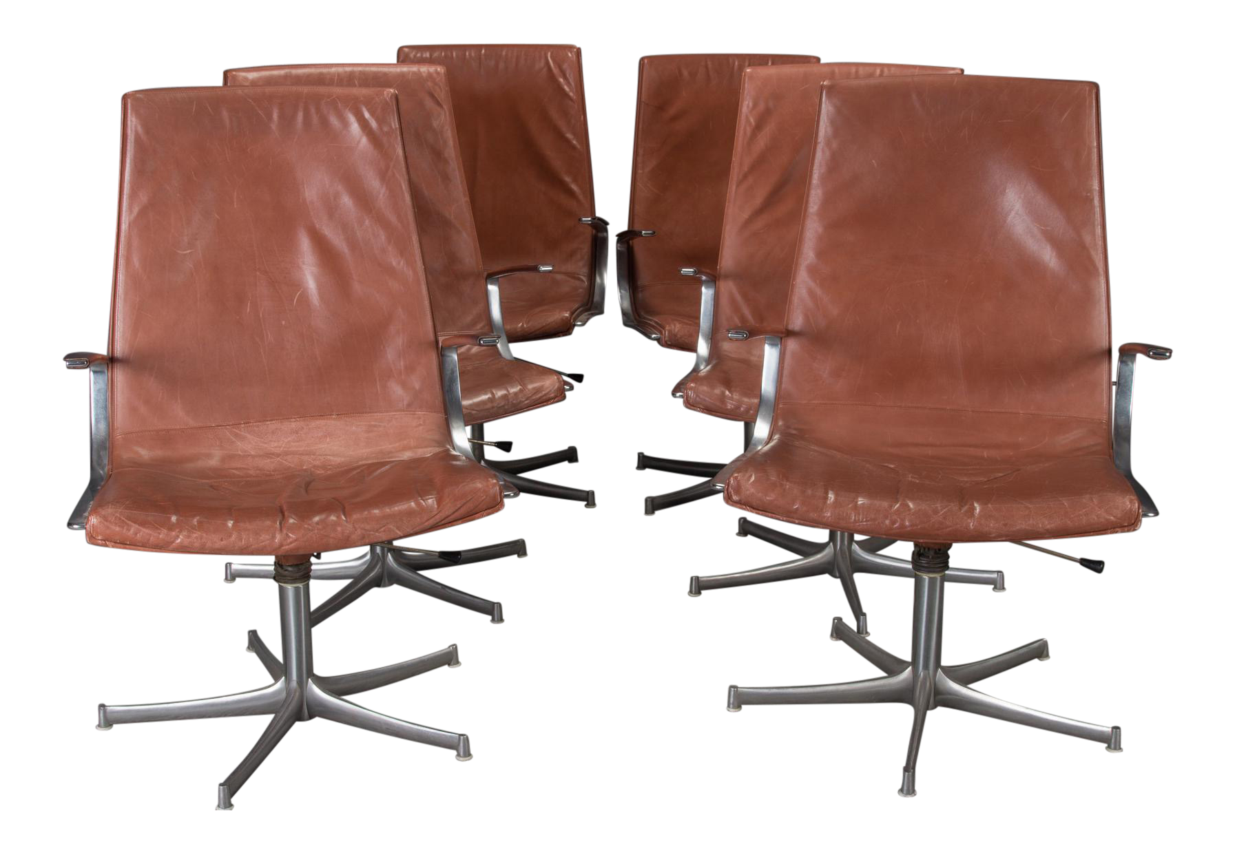 Vintage Used Brown Office Chairs Chairish