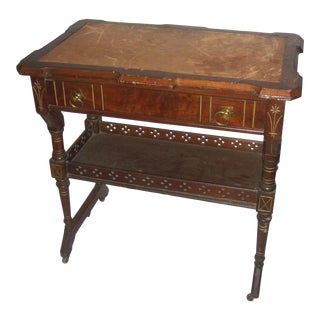 Victorian Eastlake-Style Library Table