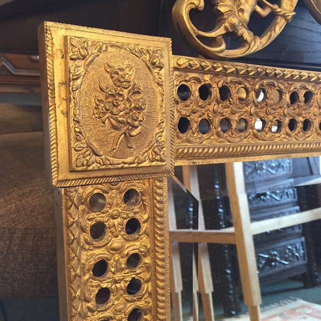 Gilded French Iron Mirrors - A Pair - Image 3 of 10