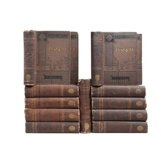 Antique Charles Dickens Books - Set of 13