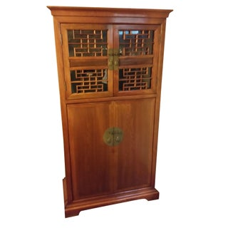 Antique Style Chinese Teak Bar & Wine Cabinet