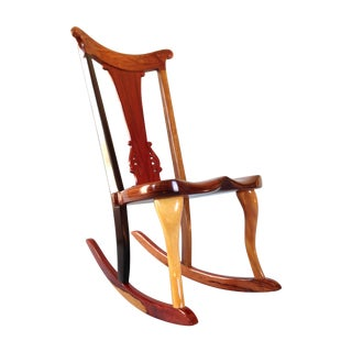 'Jigsaw' Wooden Rocking Chair