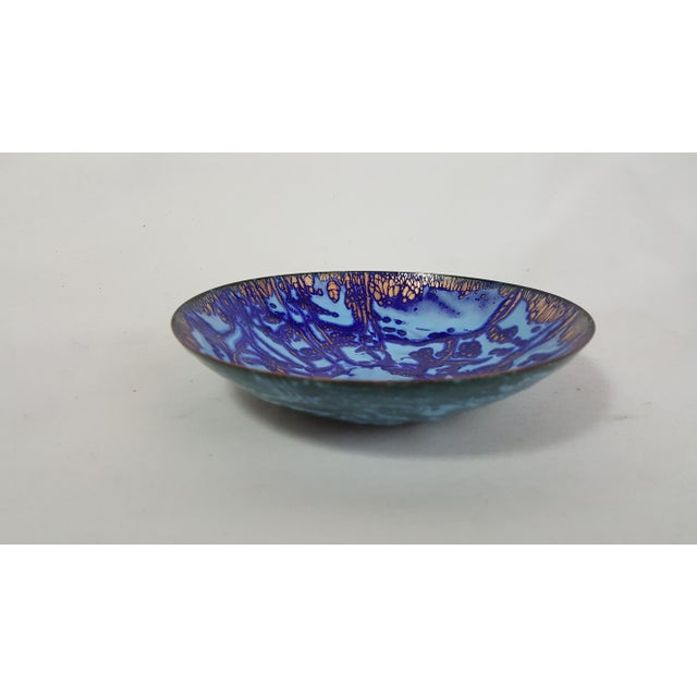 Mid-Century Copper and Enamel Bowl - Image 3 of 4