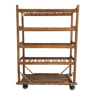 Vintage Industrial Wooden Bakers Rack