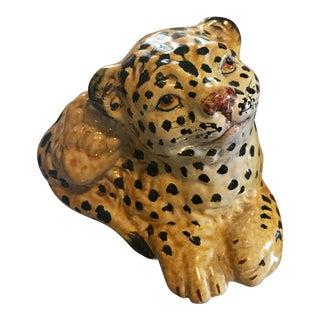 Italian Mid-Century Terra-Cotta Leopard Cub