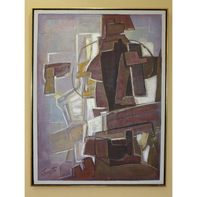 Mario De Ferrante Abstract Oil On Canvas Painting - Image 3 of 9