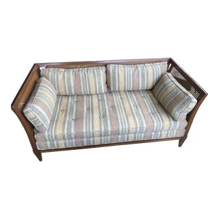 Mid-Century Caned Loveseat