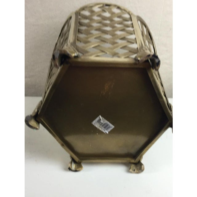 Vintage Woven Brass Wastebasket - Image 6 of 6