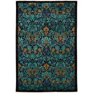 """Arts & Crafts Hand Knotted Area Rug - 4'10"""" X 8'1"""""""