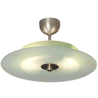 Italian Glass and Nickel Fixture