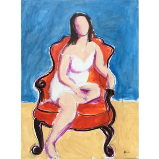 'Seated Woman I' Oil Painting