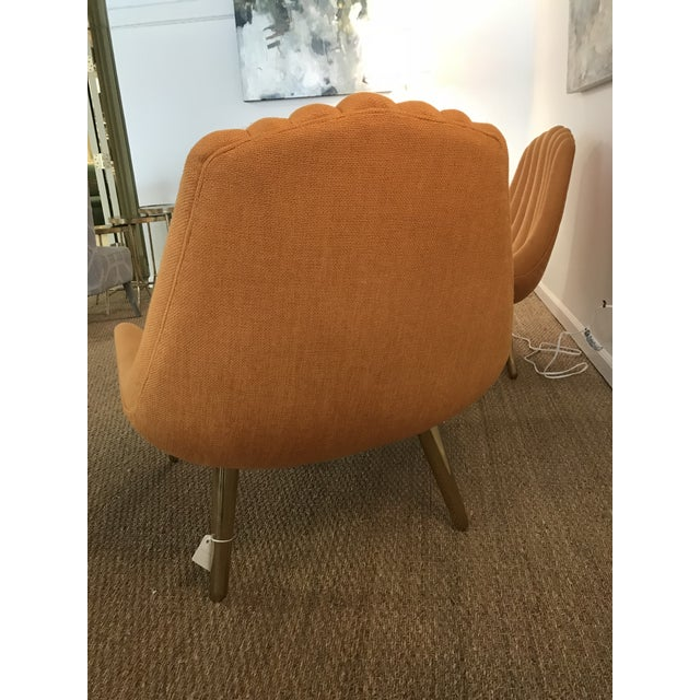 Jonathan Adler Brigette Orange Lounge Chairs - A Pair - Image 4 of 4