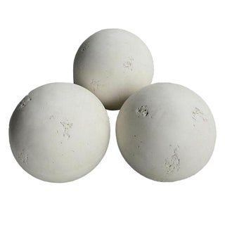 Faux Stone Plaster Balls - Set of 3