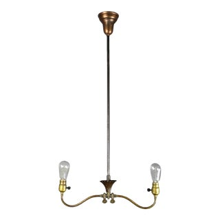 Industrial Converted Gas-Electric Double Pendant
