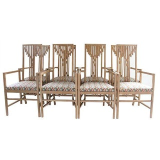 Arts & Crafts Wright Style Chairs - Set of 8