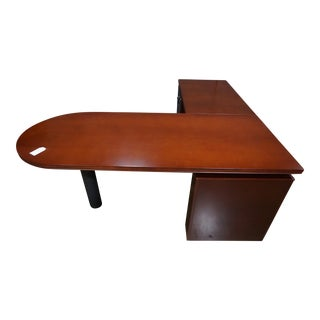 Compel Avenue Cherry L-Shape Desk