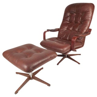 "Mid-Century ""Kropp Stolen Original"" Lounge Chair & Ottoman"