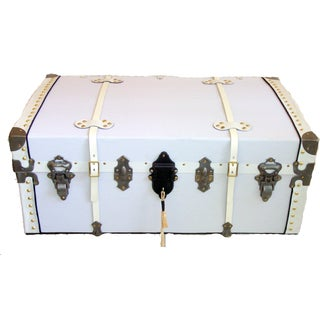 1890 White Steamer Trunk