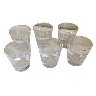 Vintage Dof Crystal Glasses - Set of 6