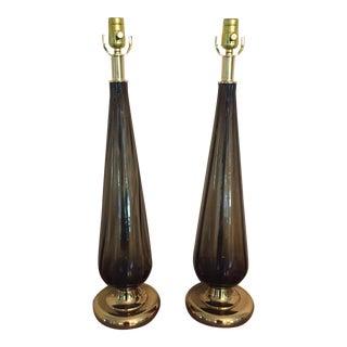 Vintage Murano Teardrop Lamps - A Pair